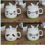 Drinking pot lovely cup with facial expressions images